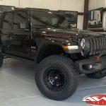 """2020 Black Rubicon JL 2″ Mopar Jeep lift Fox Shocks 17"""" Fuel """"Zephyr"""" wheels matte black 35"""" Toyo Open Country A/T II tires"""