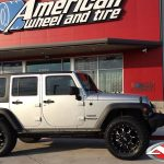 "2016 Silver Sport JK 3.5″ Rough Country lift 20x9 Fuel Offroad D517 ""Krank"" wheels 35"" Toyo Open Country A/T II tires"