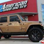 "2017 Amp'd Sport JK Jeep 3″ Zone lift 20x9 Ballistic 958 ""Ravage"" gloss black 35"" Toyo Open Country R/T tires"