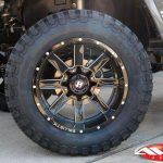 "2017 Gray Sahara JK 3.5″ Rough Country lift 20x12 Ballistic ""Rage"" Wheels gloss black 35x12.50R20 RBP Repulsor M/T tires"