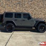"2020 Gray Jeep JL 2.5″ Rough Country lift 20×10 Fuel Off-Road D638 ""Vortex"" wheels 35"" Nitto Ridge Grappler tires"
