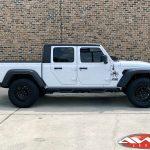"2020 White Sport JT Gladiator 2.5″ rough country leveling kit 20×9.5 Black Rhino ""Chamber"" wheels in matte black 35"" tires"