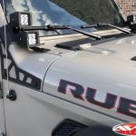 2020 Gobi Rubicon JT Gladiator DV8 A-pillar mount DV8 3″ cube LED lights