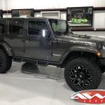 "2017 Gray Rubicon JK II Jeep 3.5″ Rough Country lift 20×10 Fuel D546 ""Assault"" wheels 35x12.50R20 Ridge Grappler tires"
