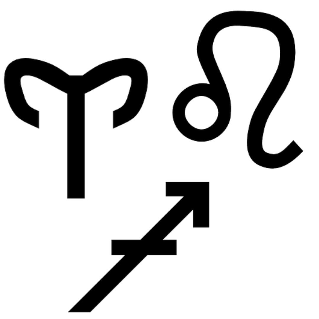 Leo, Aries, Sagittarius