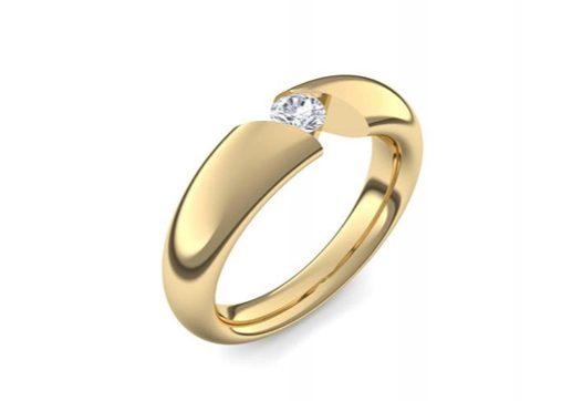 Ring Chasteness | Gelbgold 750 | Zirkonia | 1009 €