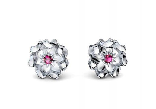 Ohringe Tale Flowers | Weißgold 585 | Turmalin pink | 1.399 €