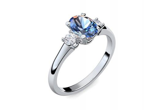 Ring Romantic Highlight | Platin 950 | Blautopas | Zirkonia | 797 €