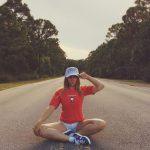 MAGA GIRL ON ROAD