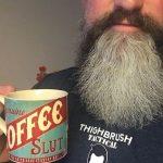 THIGHBRUSHSHIRT WITH COFFEE