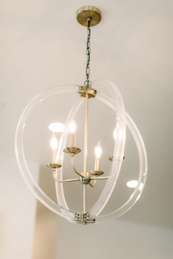 salon photoshoot chandelier