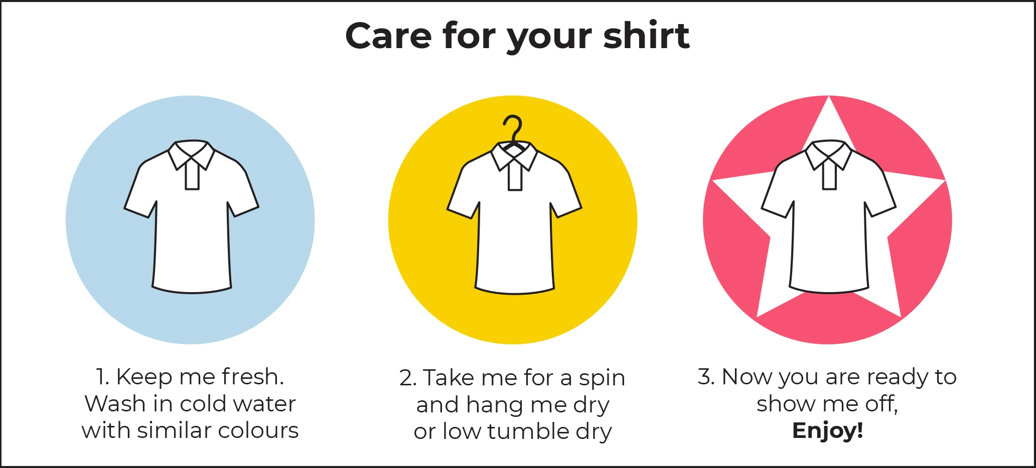druh care for your shirt