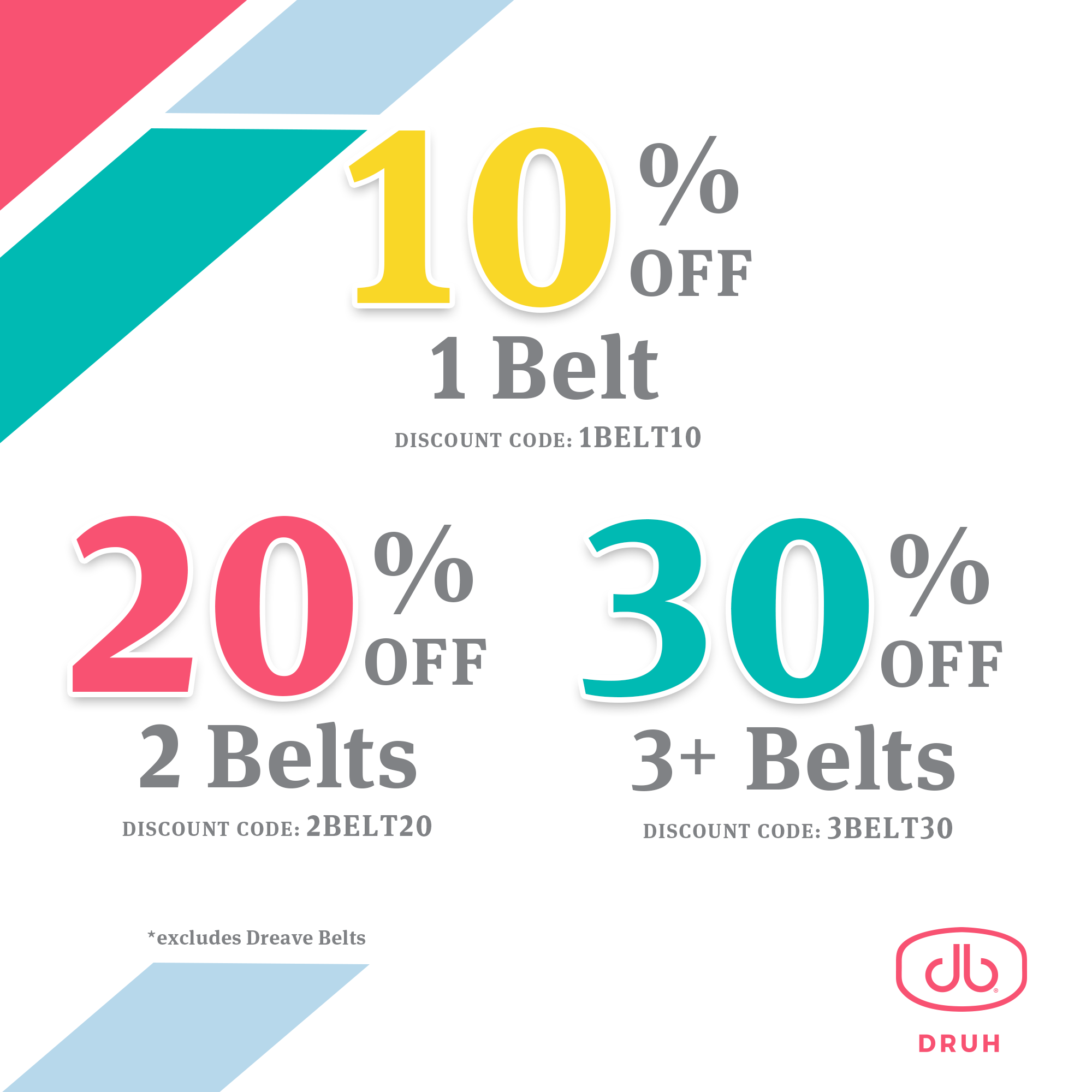 druh discount belts