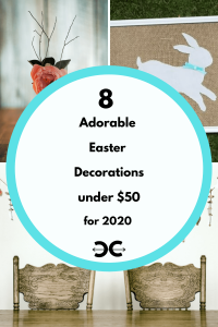 8 Adorable Easter Decorations for 2020 under 50 on Concinnity Crafts blog