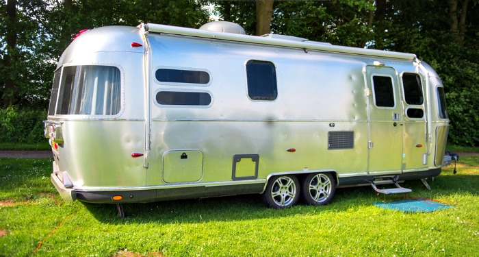 Metal caravan for holidays