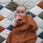 Swaddle-Cinnamon - Blanket Patchwork Diamond
