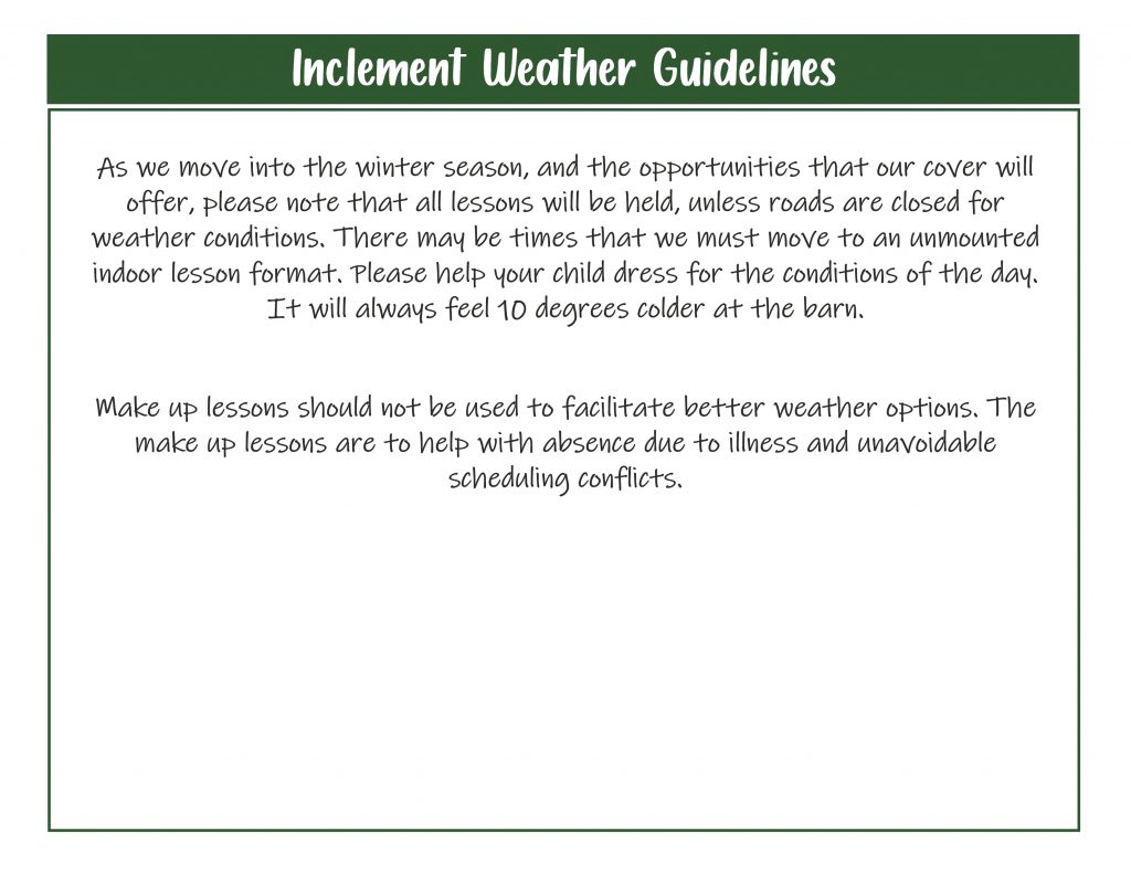 Wather Guidelines