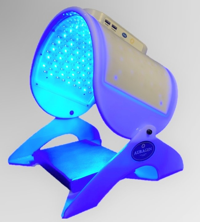 Auragen CALM mode - primary Blue Turquoise and NIR light therapy