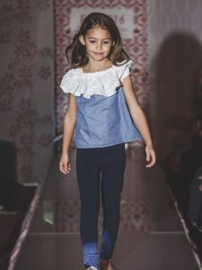 girl in runway fashion show