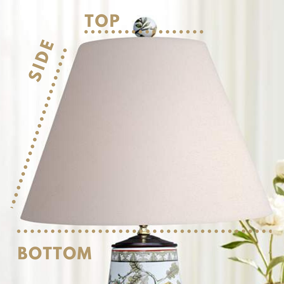 oriental lamp shade how to measure size lampshade