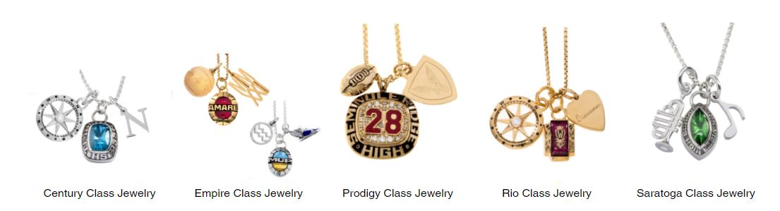 5 styles of class necklaces