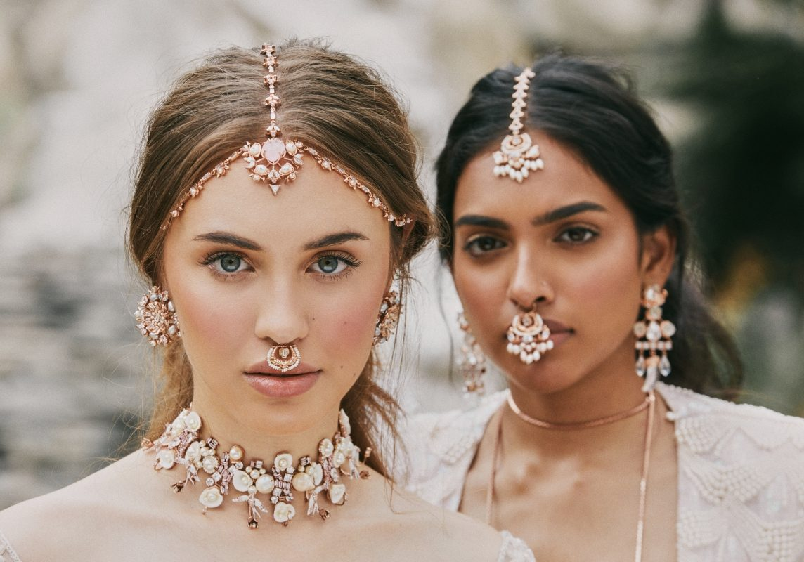 Bridal Earrings, Necklace and Maang Tika by Outhouse