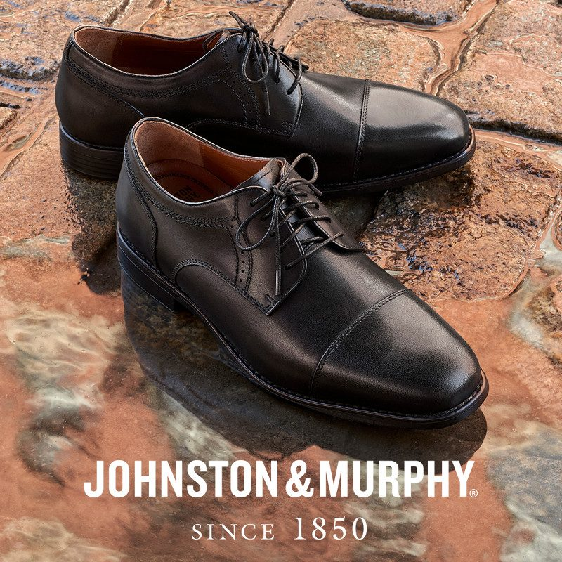 Image of Johnston & Murphy text and  Shoes
